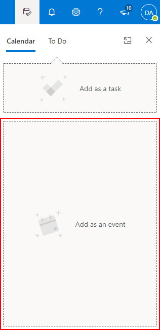 Outlook 365 Drag and Drop Email to Calendar Add Event Box