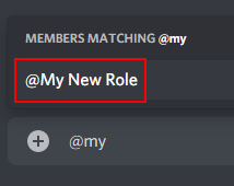 Discord Text Channel with Role being Mentioned