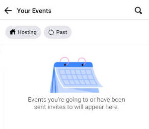 Facebook Mobile Your Events Screen Empty