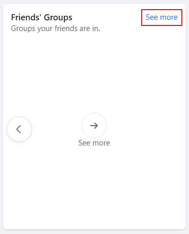 Facebook See More in Friends Group Tab on Groups Page