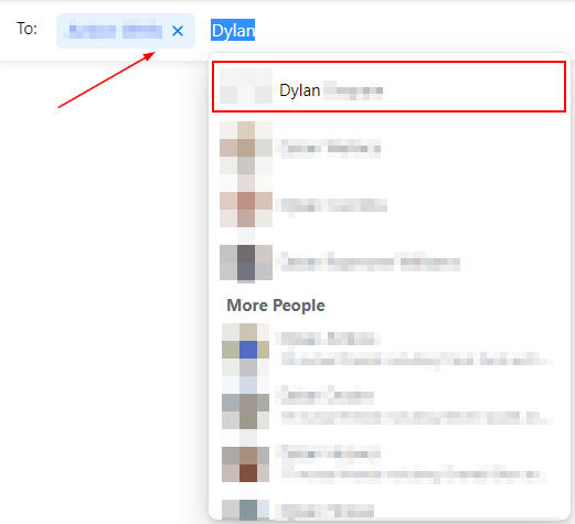 Facebook Messenger Web To Field with List of Names