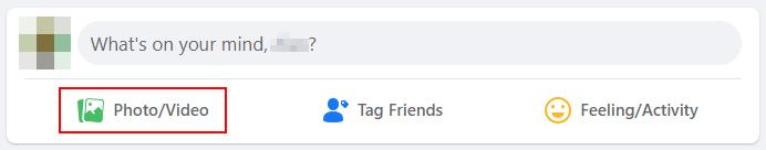 Facebook Photo Video Button Below Status Bar