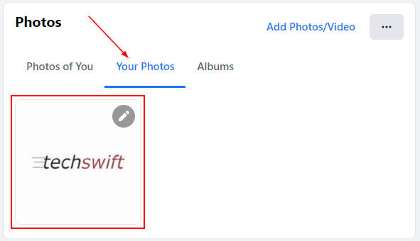 Facebook Web Photo Under Your Photos in Profile Pictures