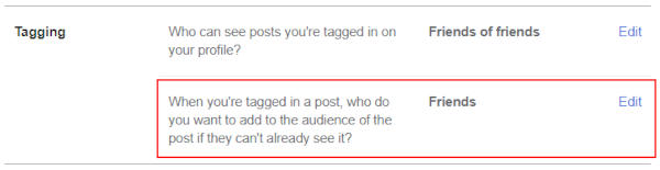 Facebook Web Who can see Future Tagged Posts in Profile and Tagging Settings