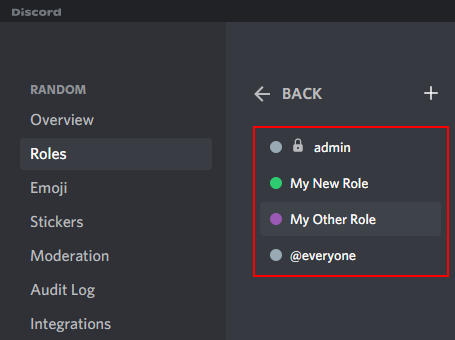 Discord Role Hierarchy on Roles Page