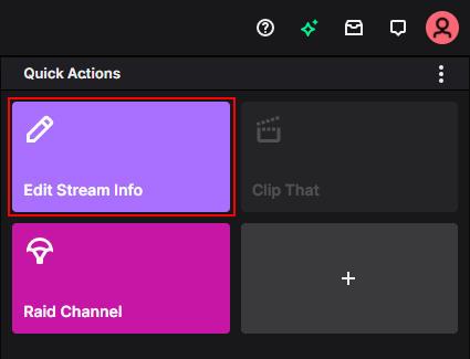 Twitch Edit Stream Info in Stream Manager on Creator Dashboard