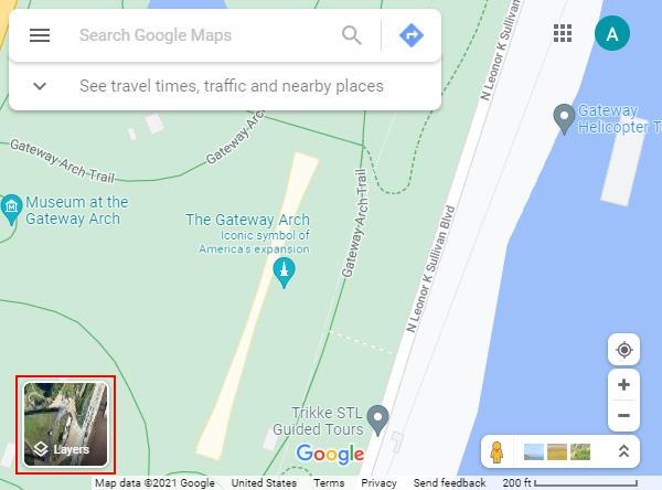 Google Maps Layers Box Satellite Button