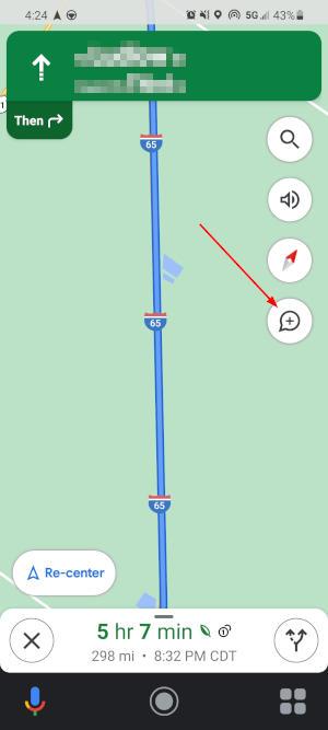 Google Maps Mobile App Speed Bubble Add Traffic Report Icon