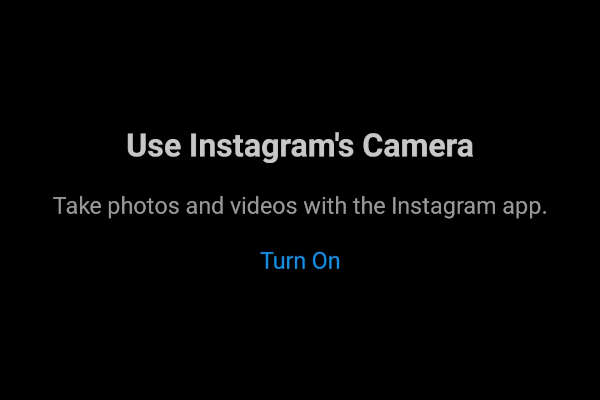 Instagram Enable Camera Access Message